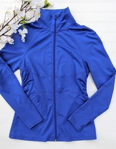 Zella Blue Fitted Athletic Jacket